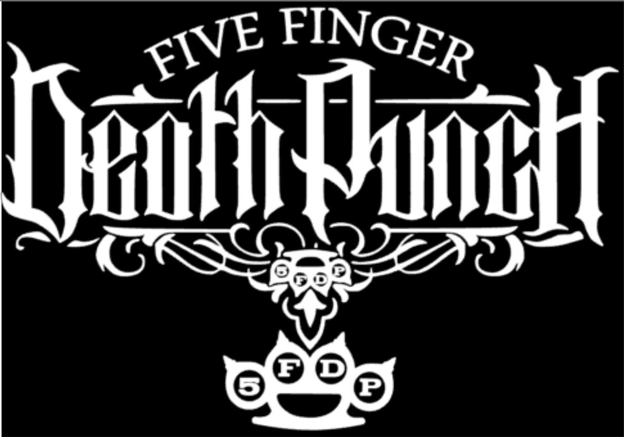 Five Finger Death Punch 5FDP Gráfico Die Cut Decal Sticker Coche Camión Ventana 7/""