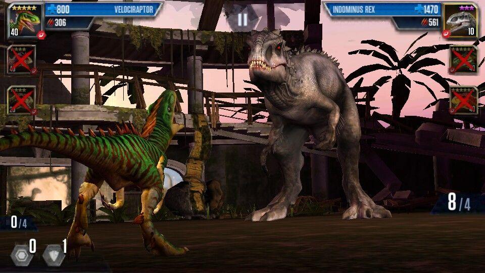Velociraptor lvl 40 vs Indominus Rex Jurassic park