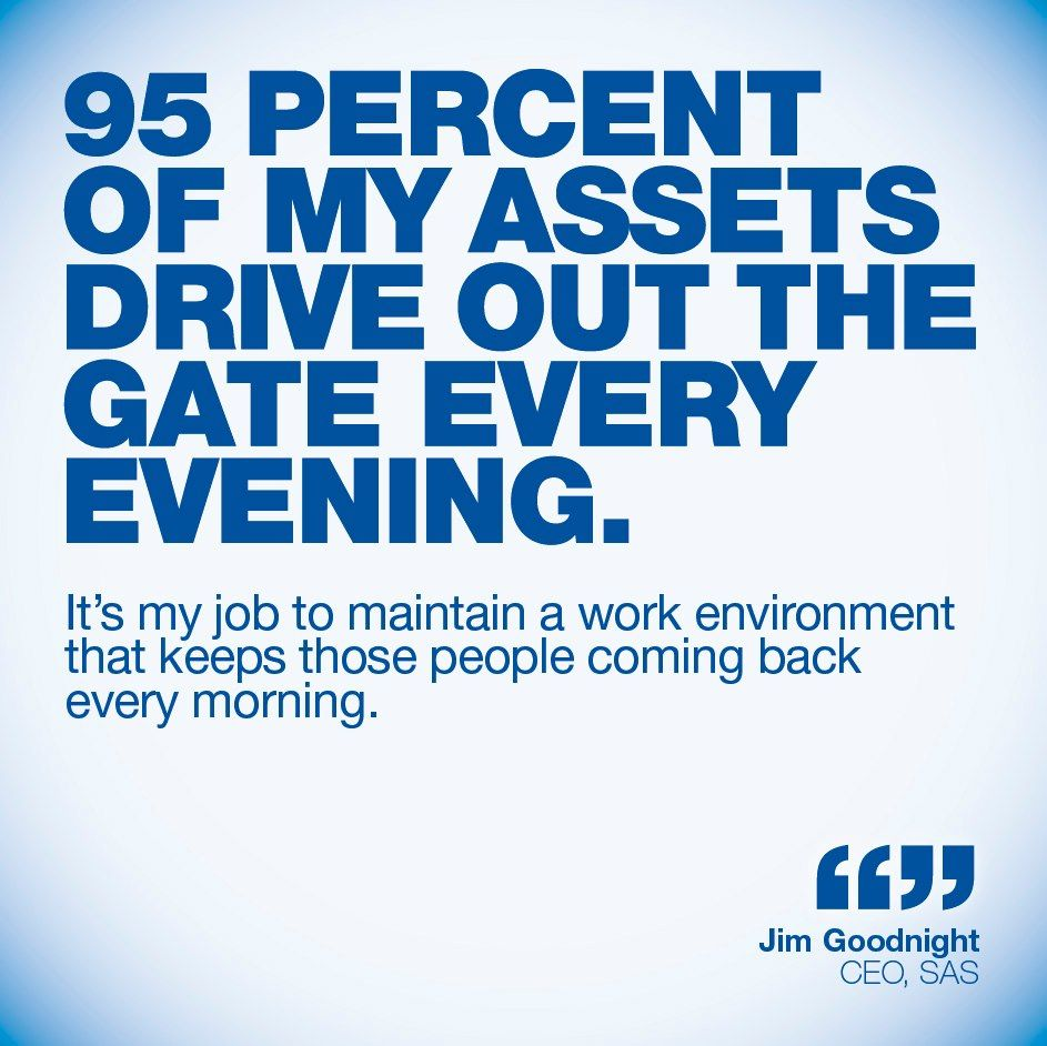 Leadership Quotes Quote From Jim Goodnight Ceo Of Sas 95 Percent Of My Asserts