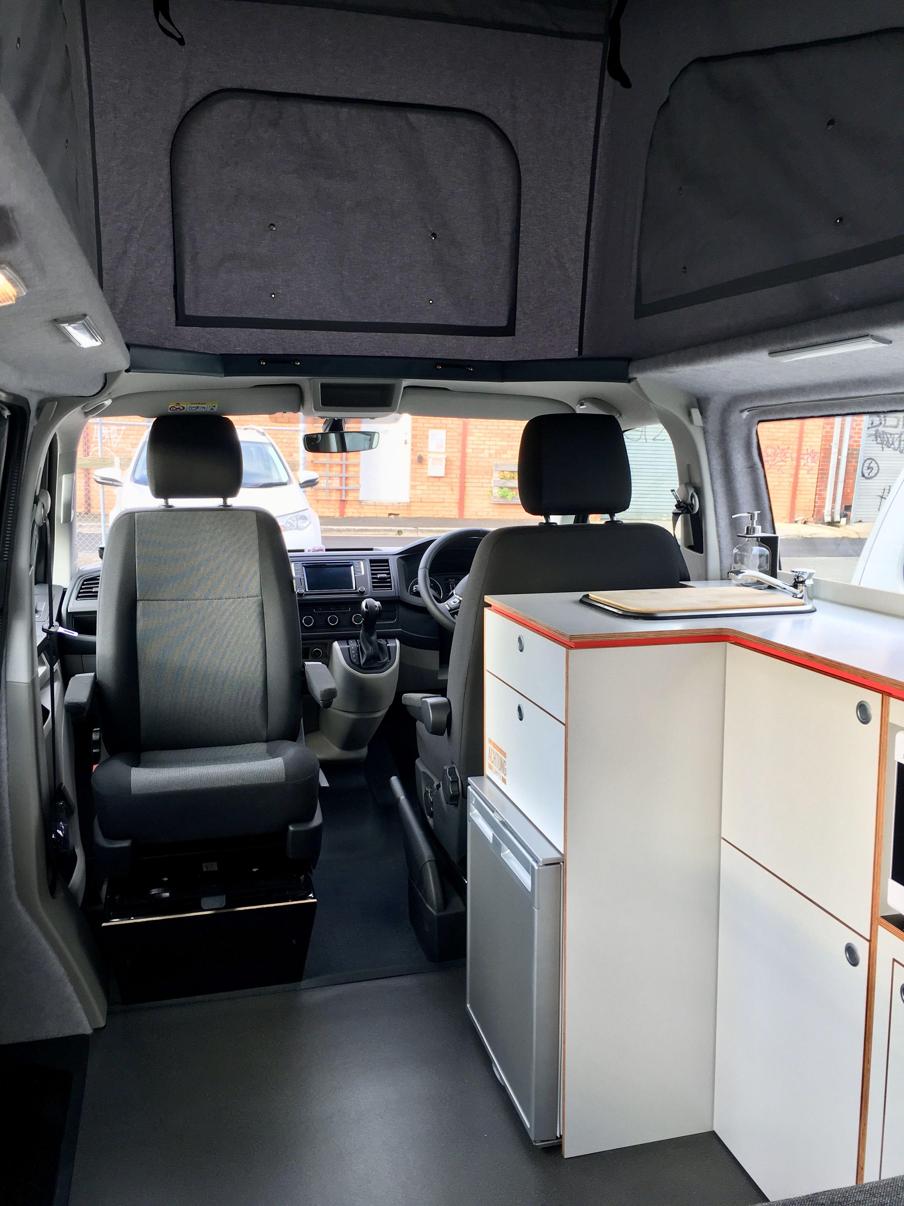 Swivel Seat Base Makes This Van Open And Functional Van Conversion Campervan Vw Campervans For Sale Campervan