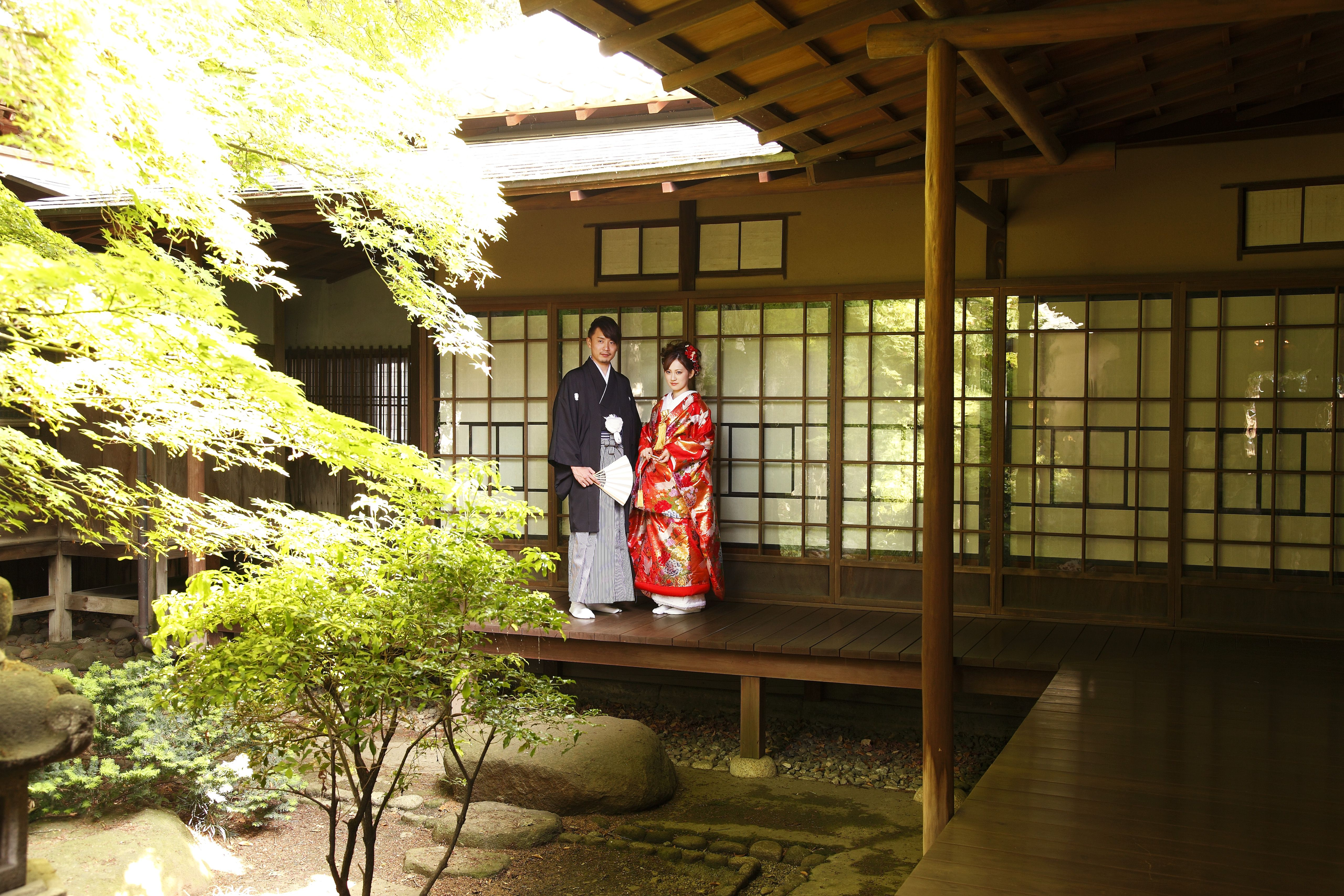 Traditional Japanese House Courtyard