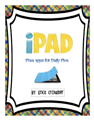 Free Ipad Apps For Daily 5 Pre K Through 2nd Grades Great For