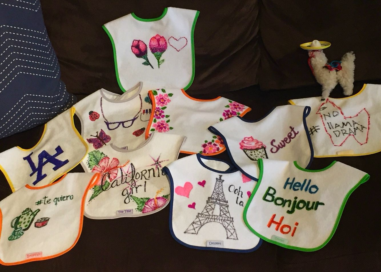 Sharpie Baby Bibs Baby Shower Game Diy Decorate Bibs