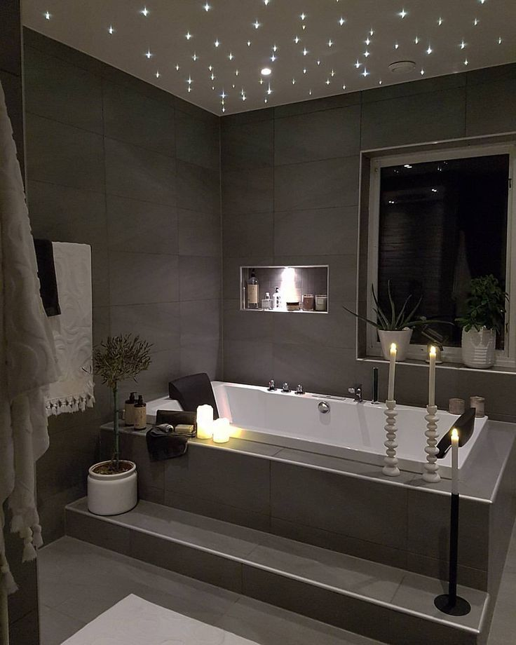 Resultado de imagen de luces estrellas en techo baño | Orquídea baño ...