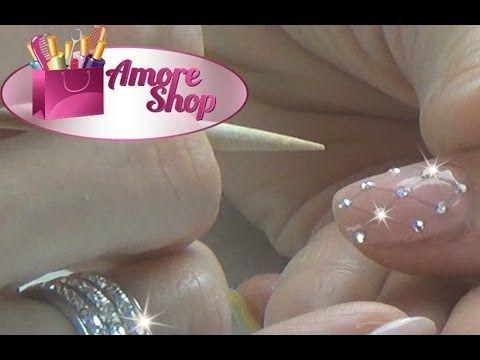 Стеганый маникюр гель-лаком (quilted nails with gel polish)