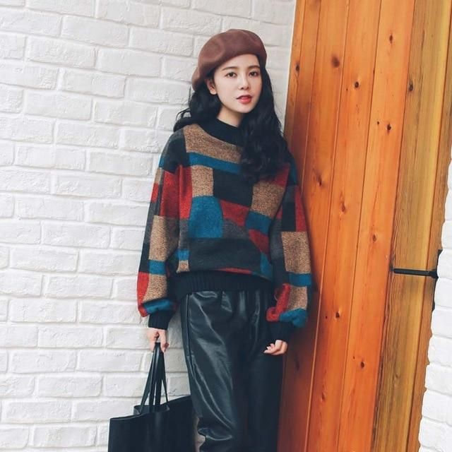 6f96601f51e 3 Colors Vintage Thick Cashmere Sweater Womens Autumn Winter Loose Casual  Top Pullover Female 2019 Knitted Jumper Girls