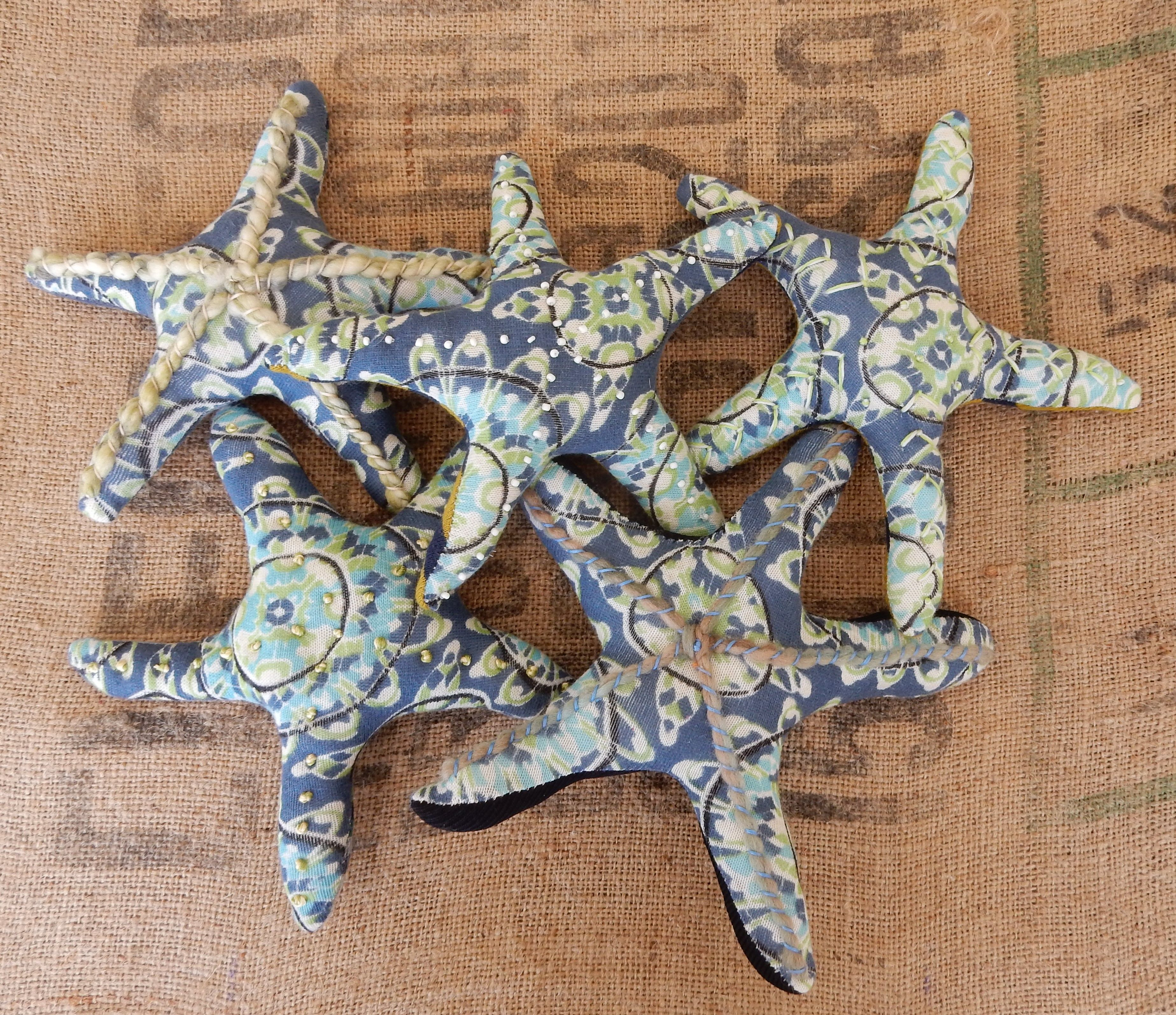 Plush Stuffed Starfish Handmade From Recycled Sweaters By