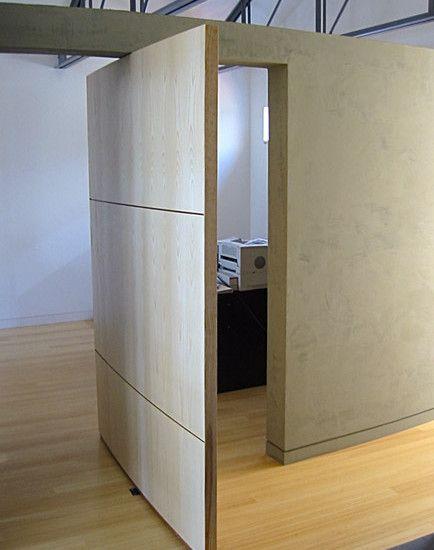 Mesmerizing Ideas For Modern Home Design: Modern Home Office Exciting Hidden  Door Kohler Residence