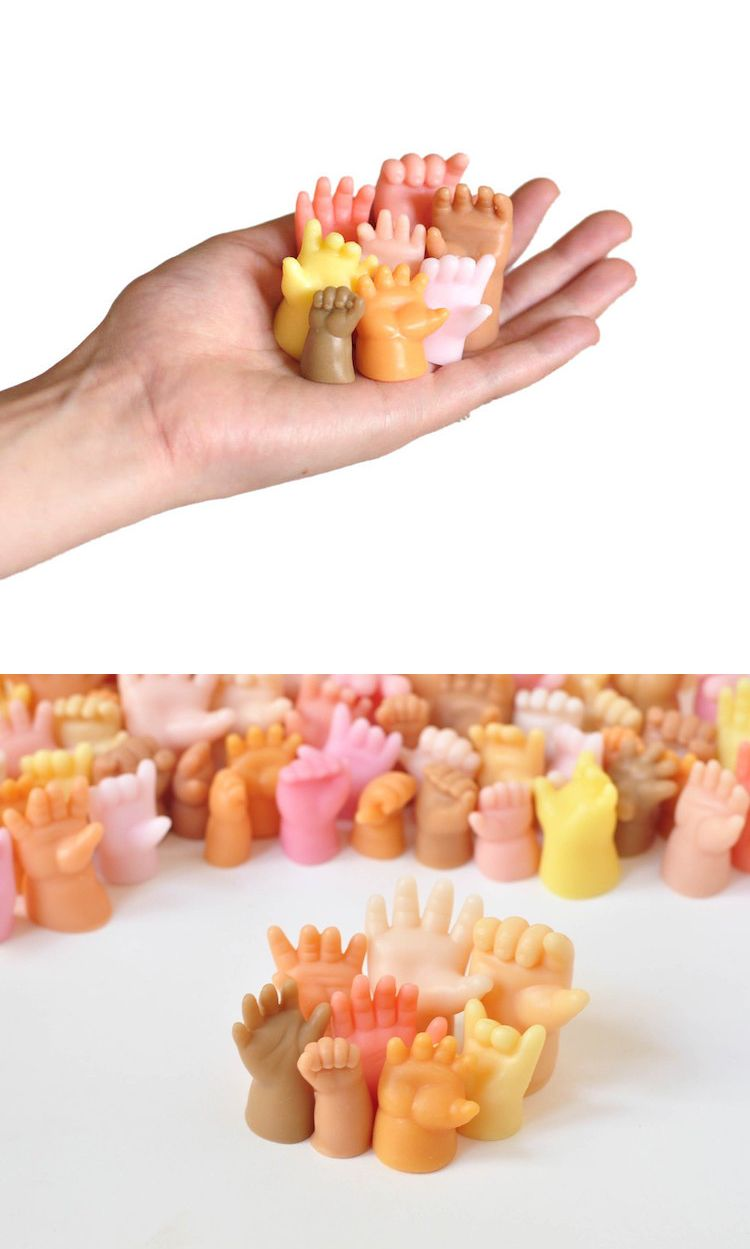 Marie Gardeski of Imaginary Animal is offering a helping hand—literally—with her series of quirky novelty soap.