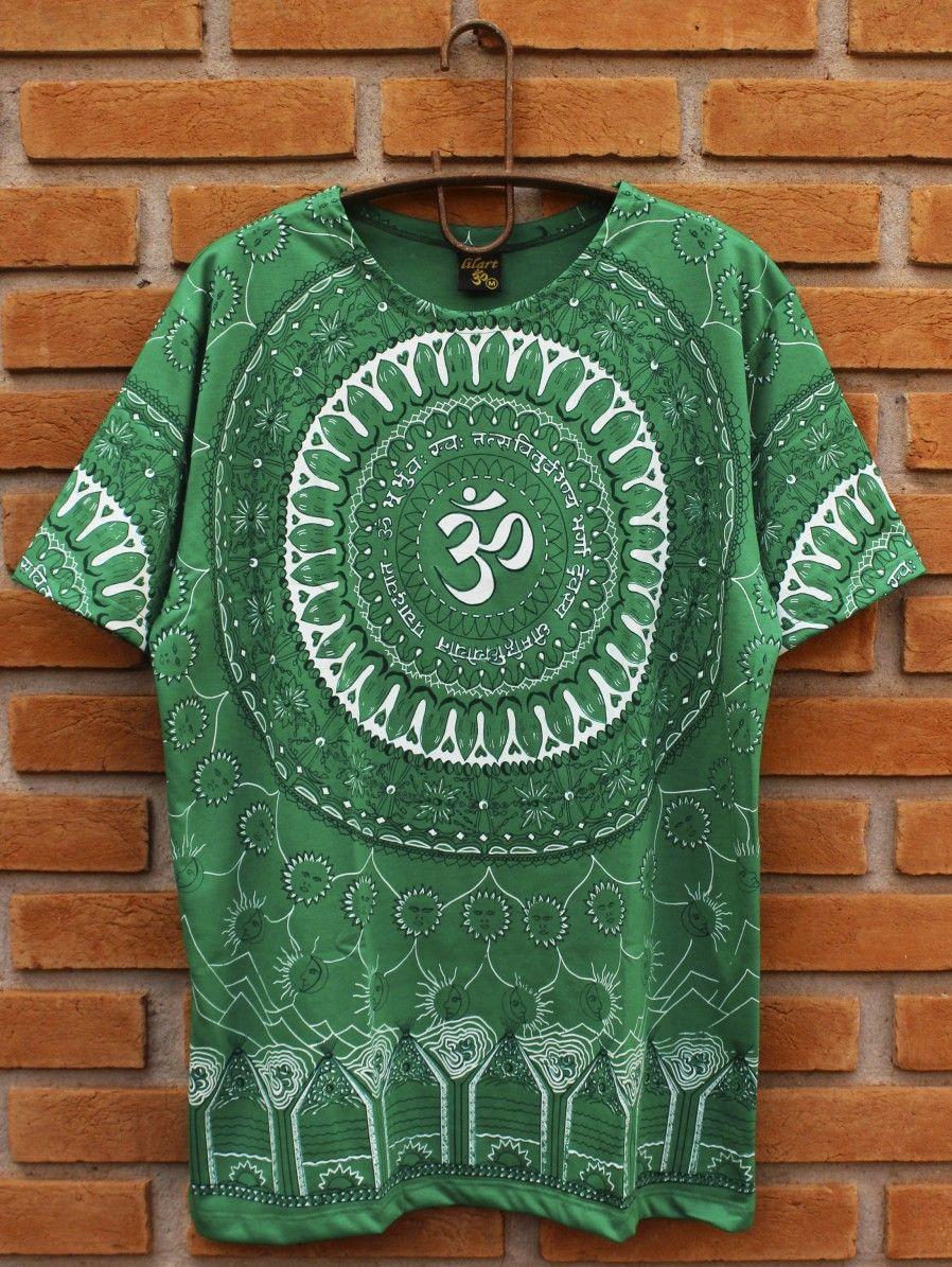 2865c391cf Camiseta Indiana Masculina Mandala Mantra Om Verde. Apenas R  53