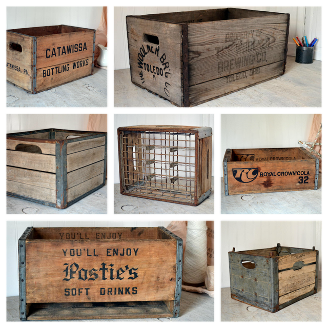 Crates House Stuff In 2019 Vintage Wooden Crates Crate Decor