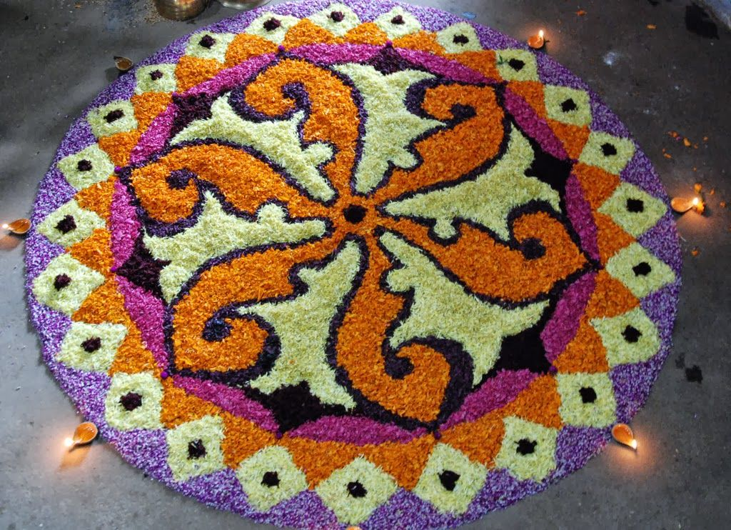 Flower Rangoli Designs Diwali