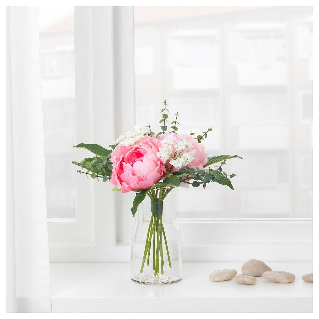 Fiori Finti Ikea.Smycka Artificial Bouquet Pink 10 In 2020 Ikea Flowers