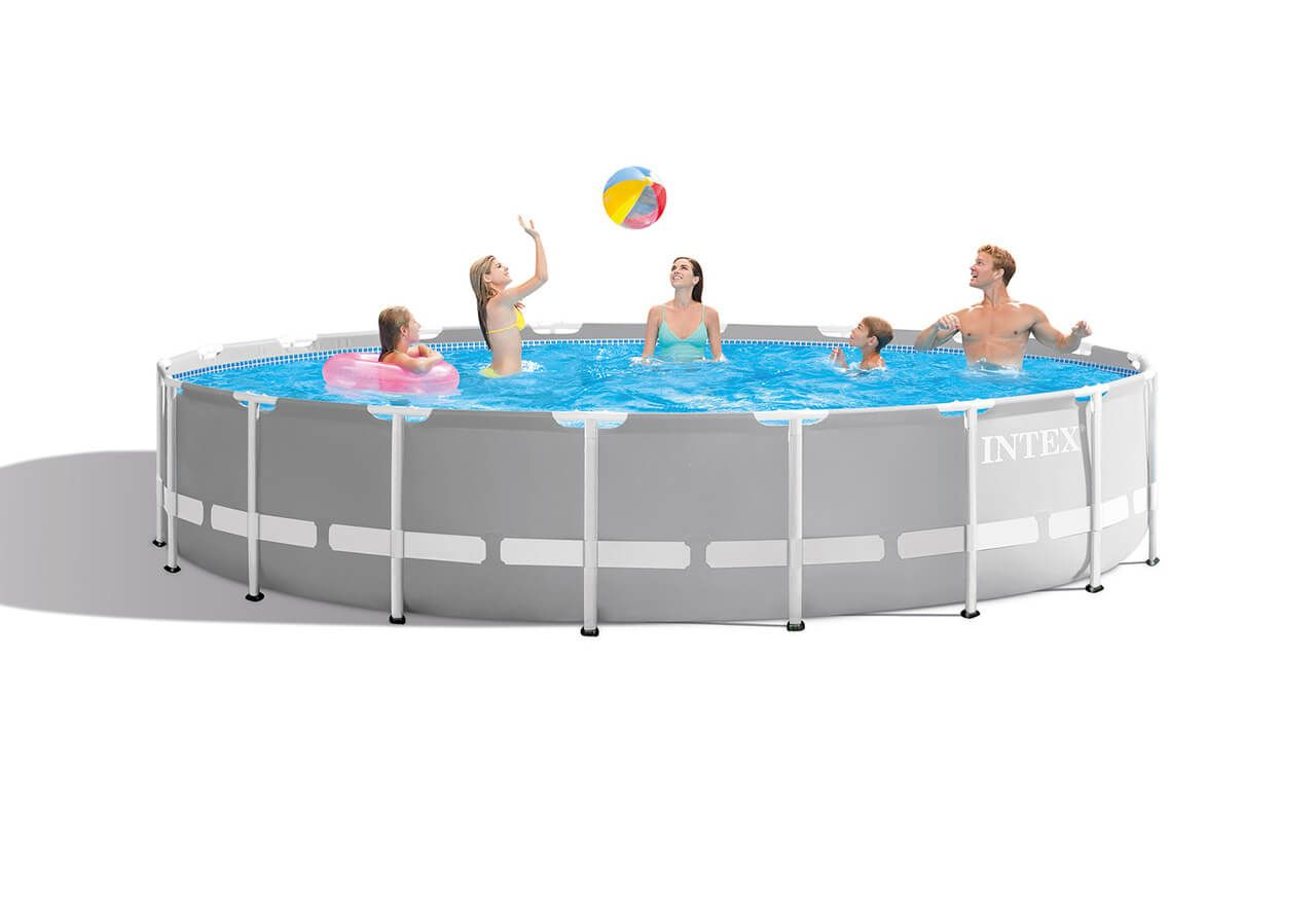 18ft X 48in Prism Frame Pool Set Intex Above Ground Pools Pools The Home Depot Pool Swimming Pools Pool Cover