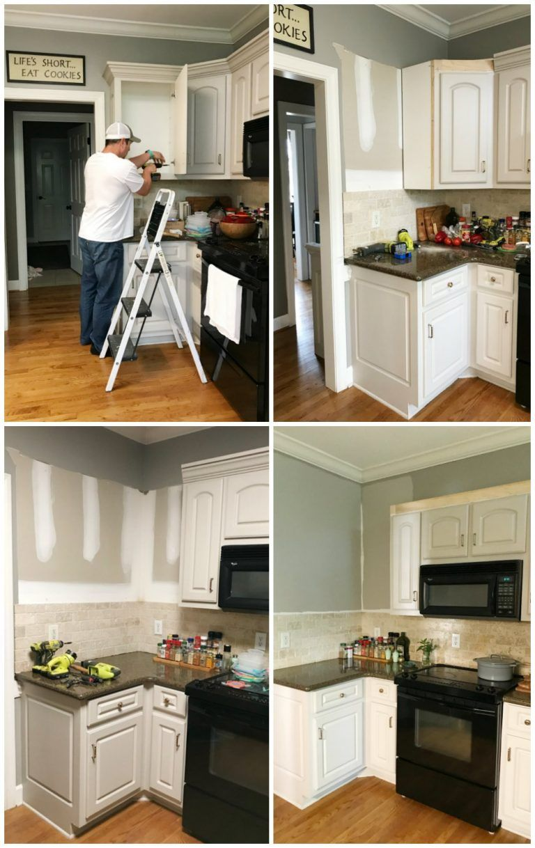 Kitchen Cabinet Facelift At Home With The Barkers In 2020 Cheap Kitchen Makeover Kitchen Cabinet Remodel Kitchen Cabinets