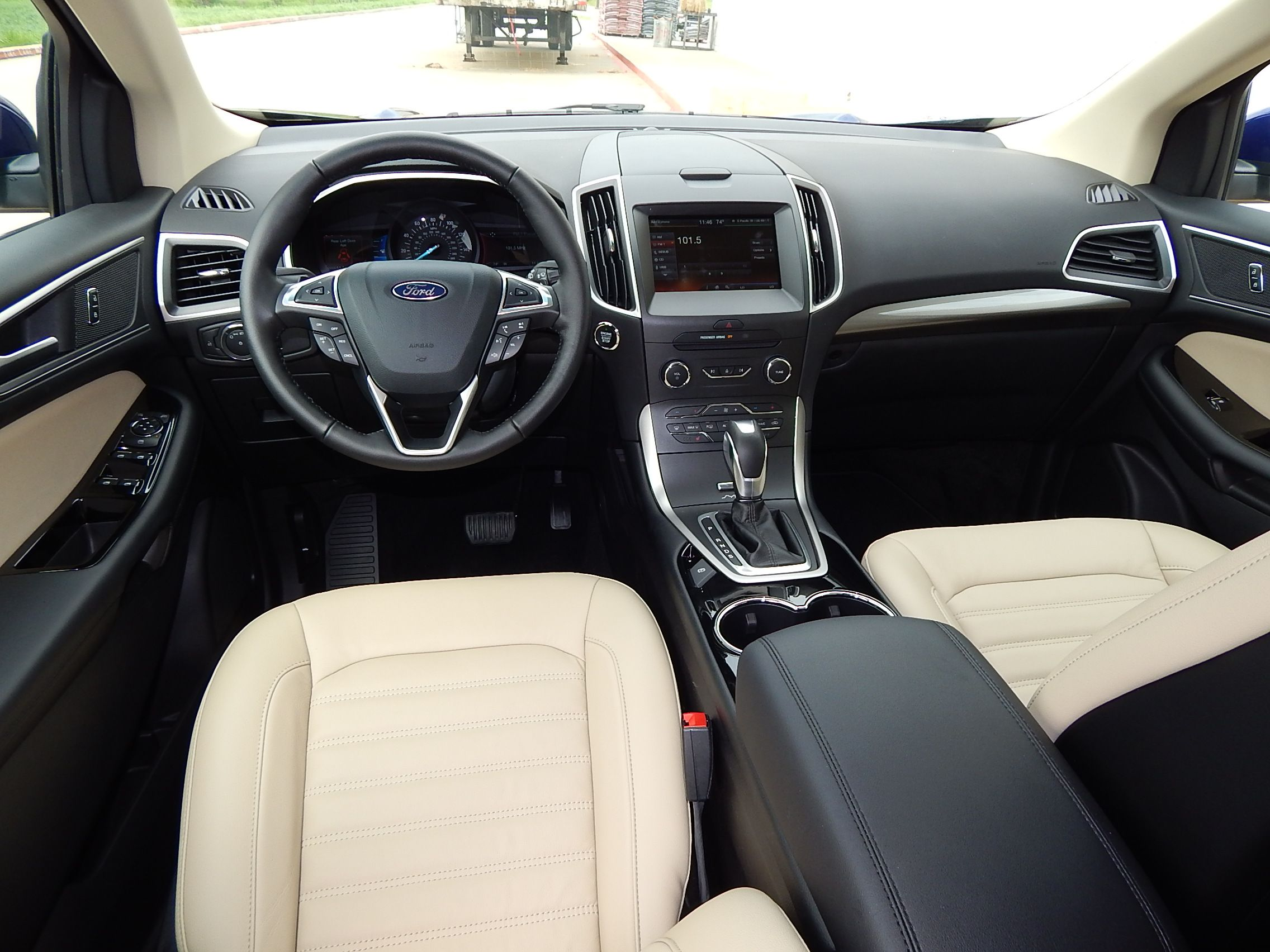 2015 ford edge interior with dune leather seats