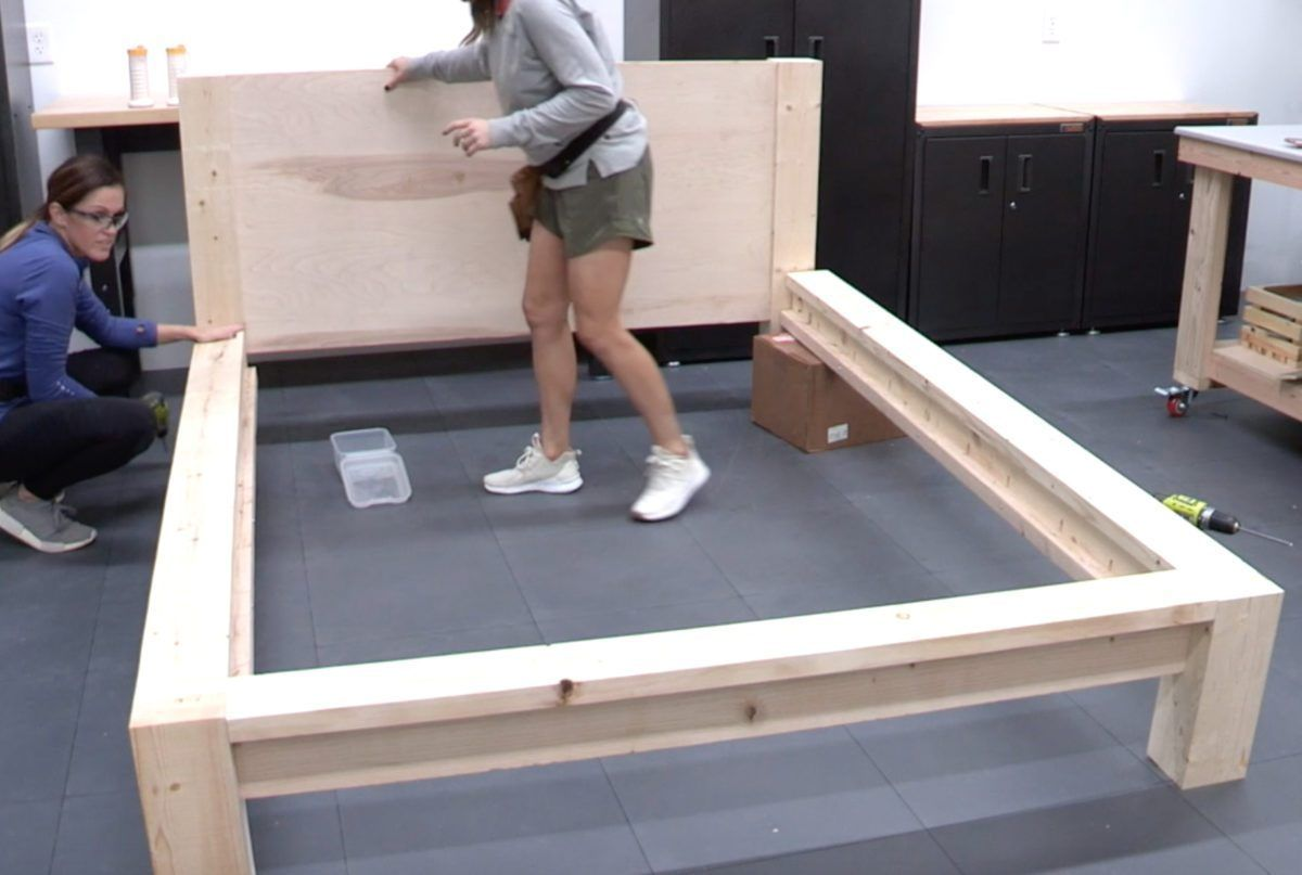 Diy 100 Rustic Modern Queen Bed Free Plans Tutorial With
