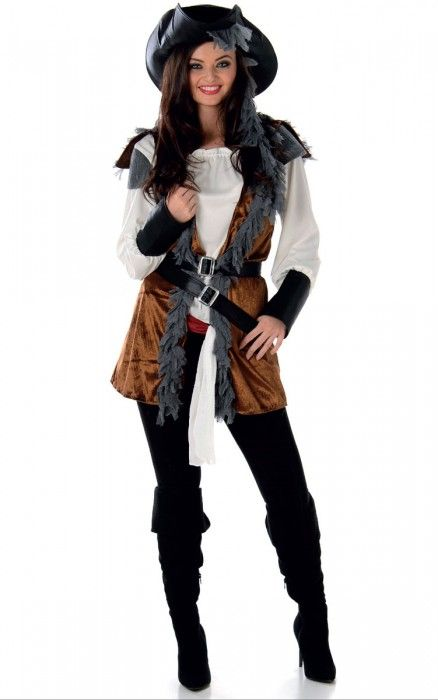 48076d1c2dc Salty Doll Women's Pirate Captain Costume in 2019 | Party Costumes ...