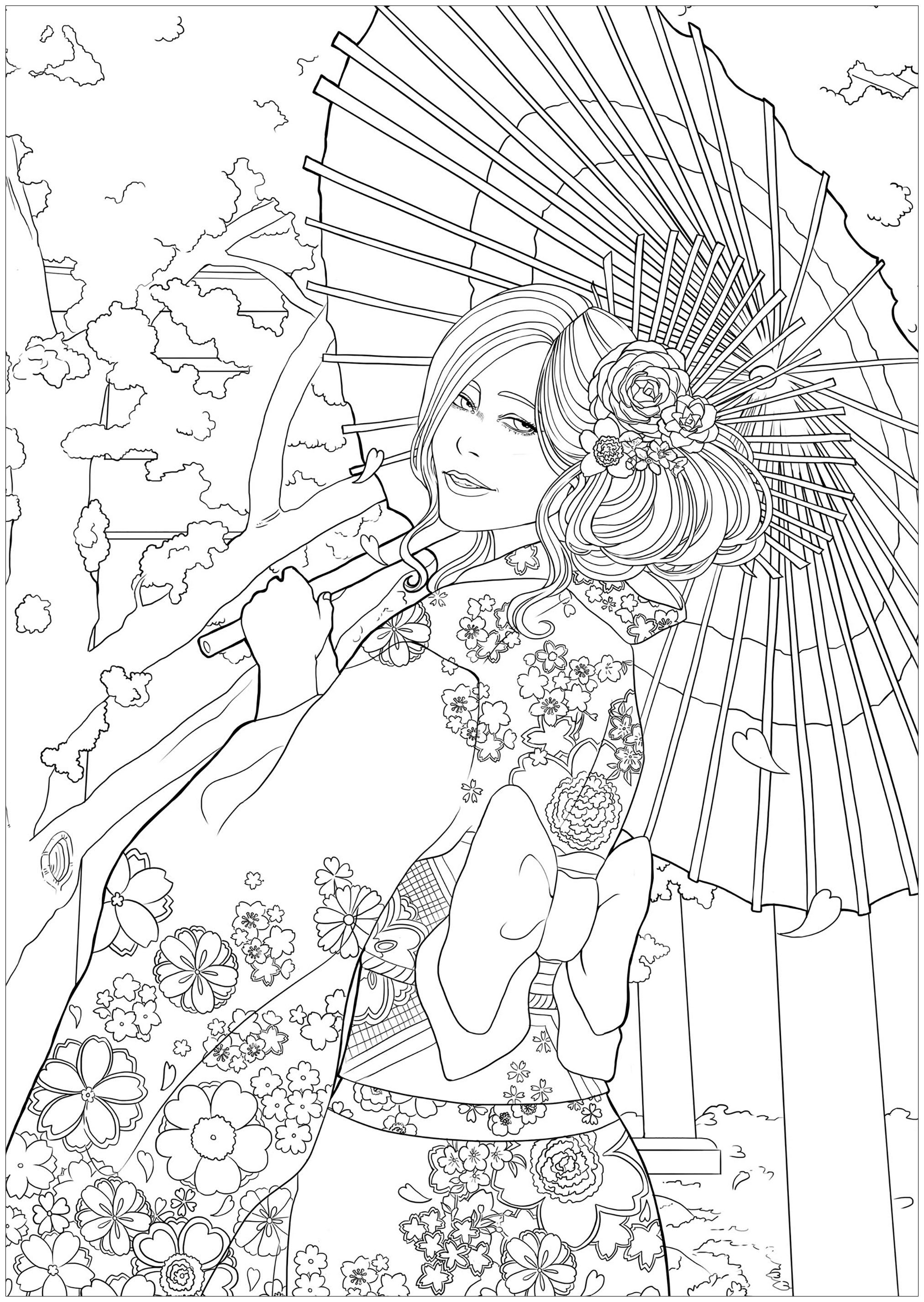 Japon 12386 - Colorear para Adultos : Japón - 2. Desde la ...