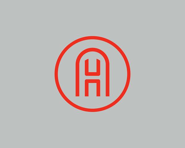 A H Monogram On Behance Graphic Design Logo H Monogram Beautiful Logos