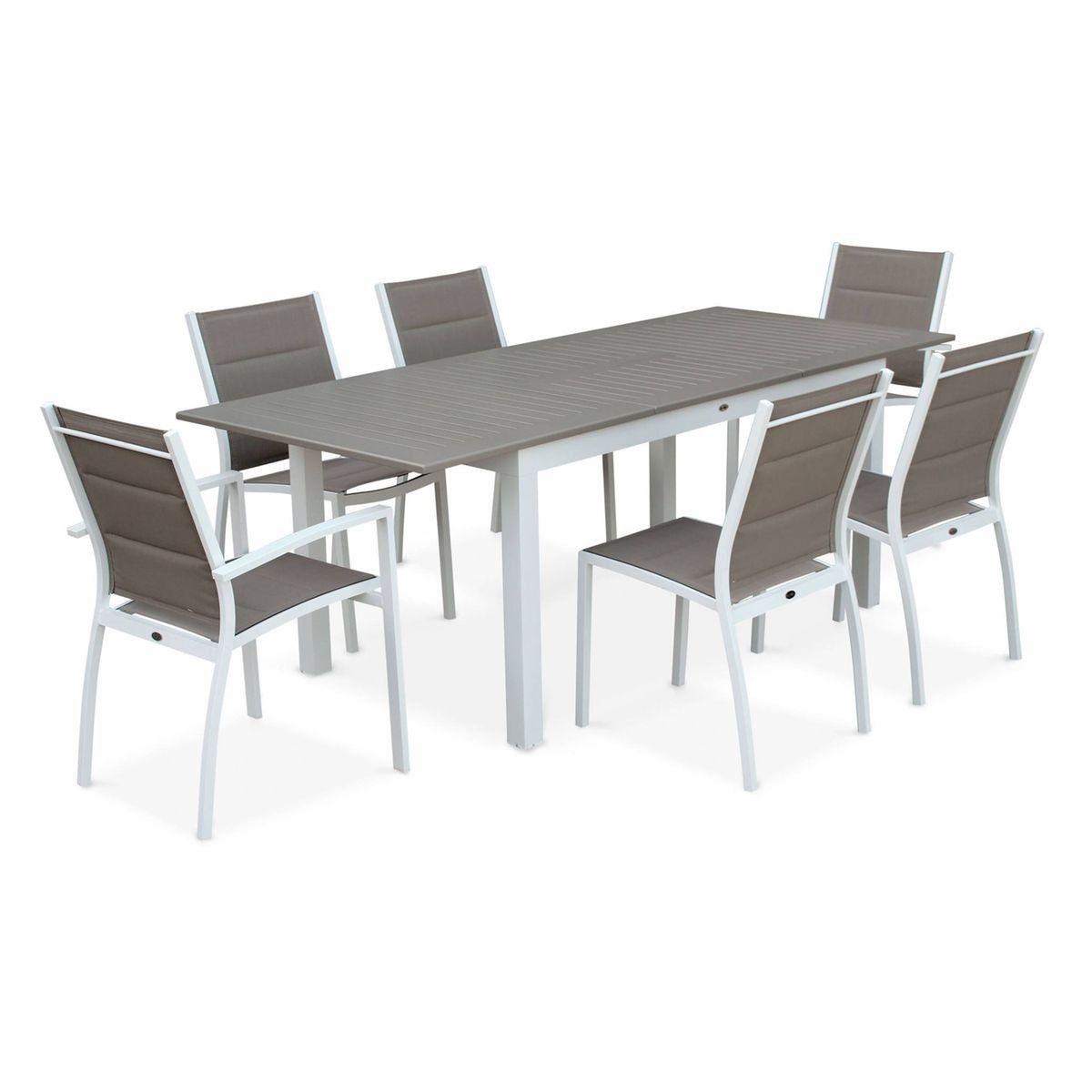 Salon De Jardin Table Extensible - Chicago 210 - Table En ...