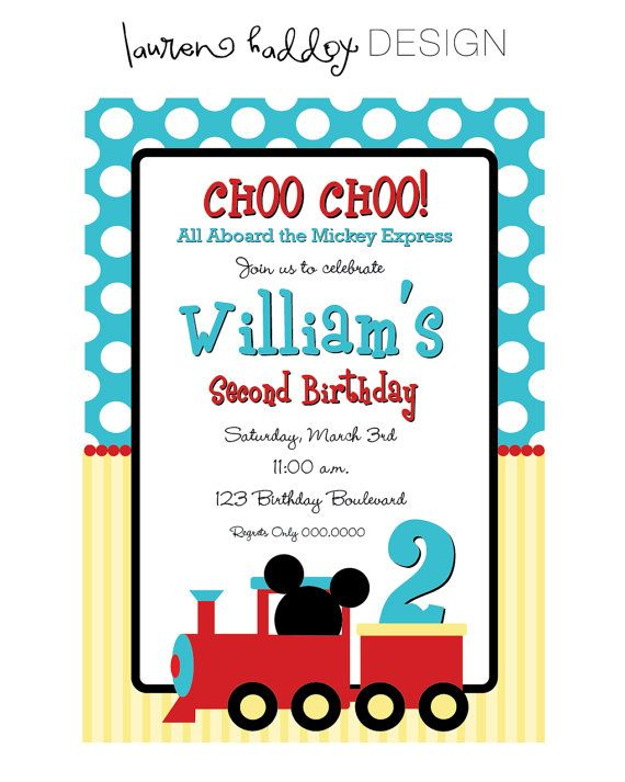 Mickey mouse choo choo express birthday invitation carters 2nd mickey mouse choo choo express birthday invitation filmwisefo