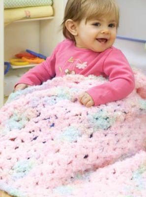 RED HEART® Baby Clouds™ Sweet Dreams Baby Blanket