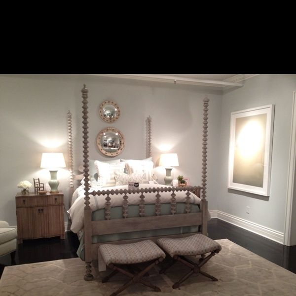 South Hampton Bed By Phoebe Howard Perfect Updated Traditional 4 Poster Shown In Chippy Whi Sherrill Furniture Bedroom Makeover