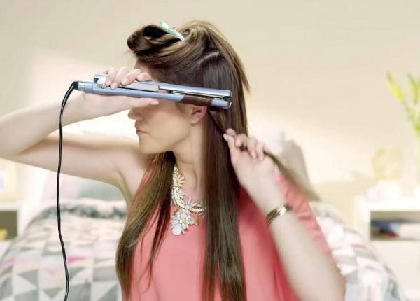 Como fazer cachos com chapinha. #cabelo #chapinha