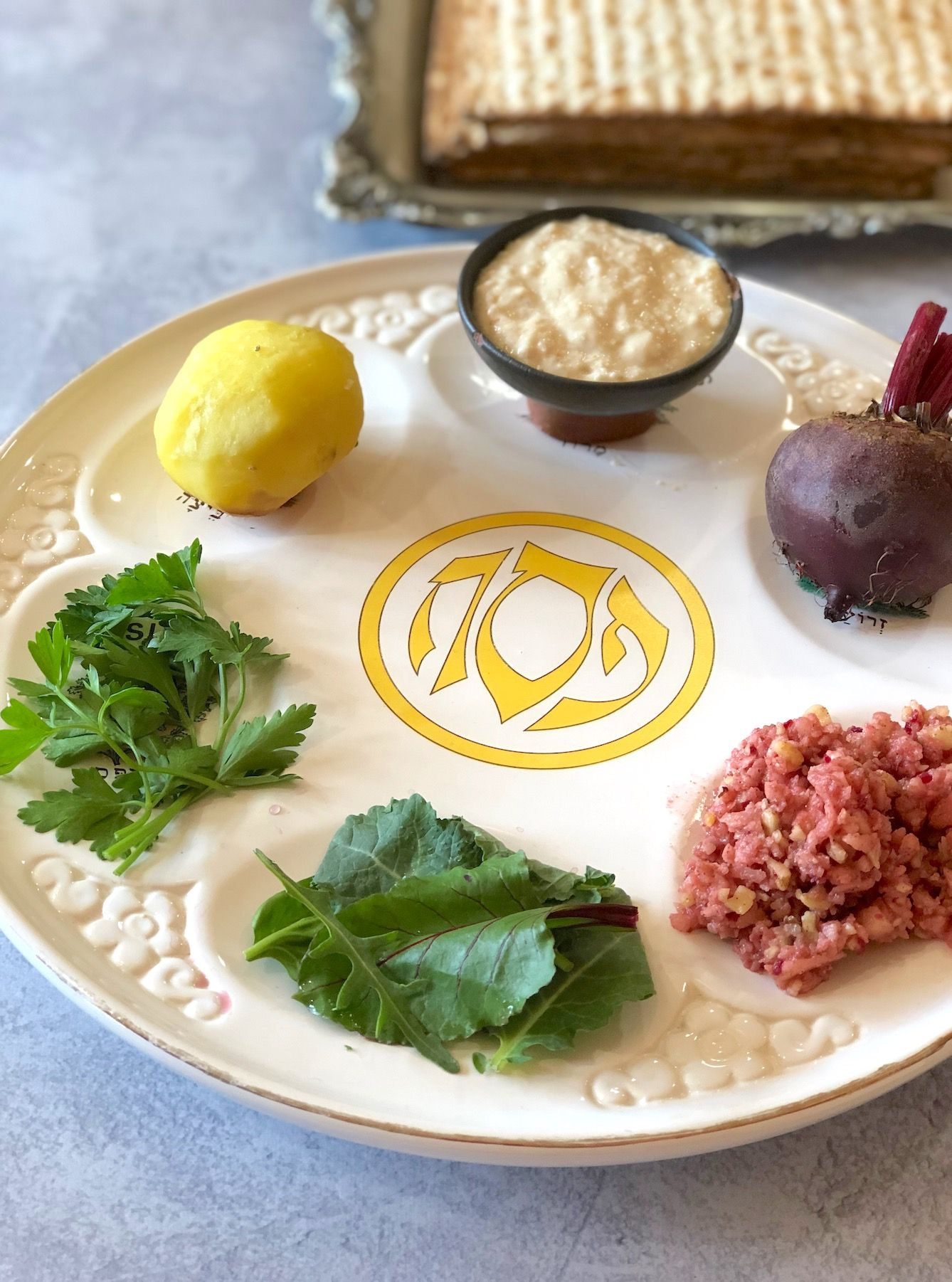 The Passover Seder Plate For Vegans And Vegetarians