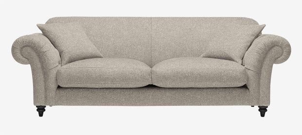 Major Comfort Large Sofa With Fixed Covers In House Linen Natural