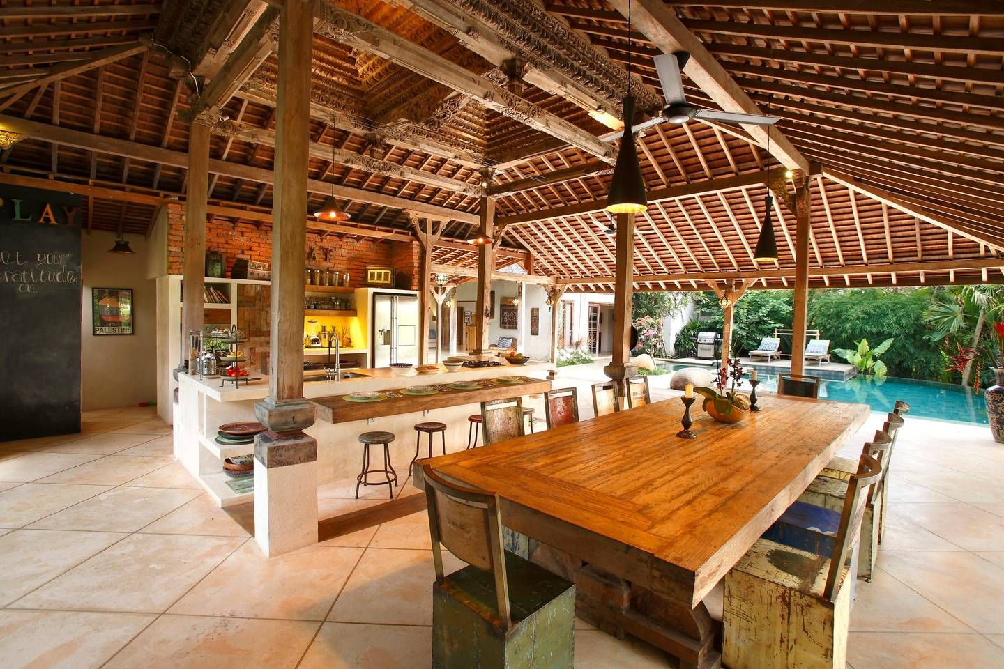 Rustica Cucina Bali Eco Luxury Family Friendly Villa Houses For Rent In Ubud Bali