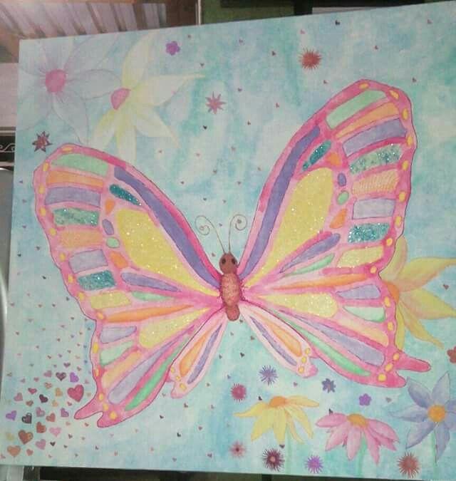 watercolour butterfly, children's room art, Alta Anderson