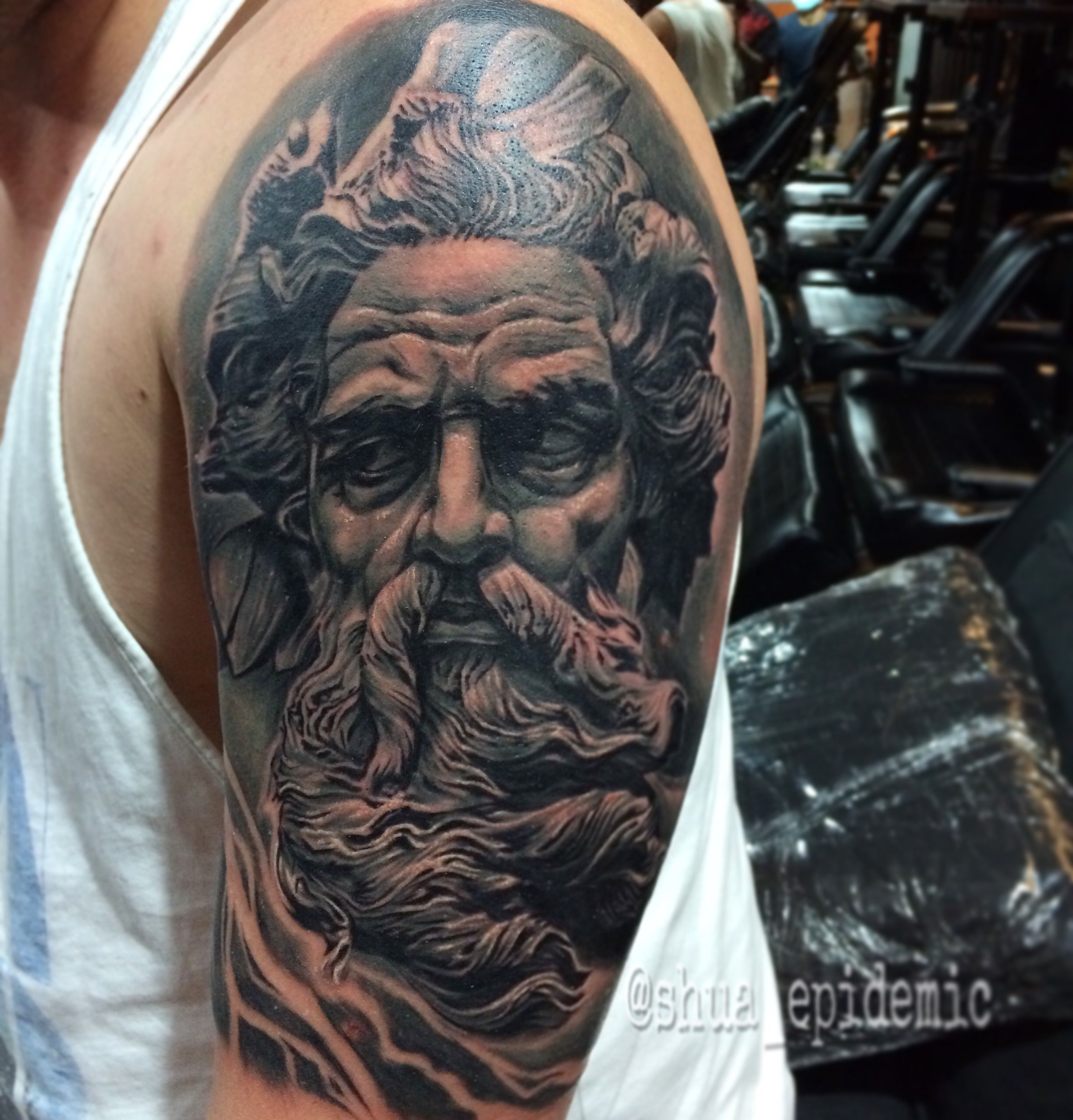 Zeus Tattoo By Shua Epidemic