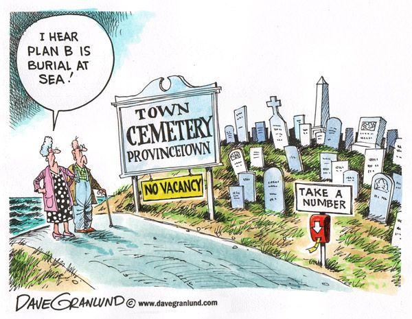 I Hear Plan B is Burial at Sea.: Cartoon Cemeteries | Cartoon ...