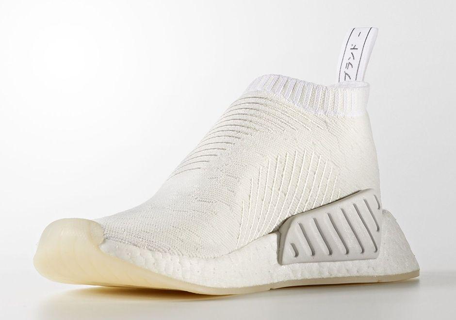 Adidas Nmd Cs2 Triple White By3018 Sneakernews Com Adidas Nmd Adidas Winter Sneakers