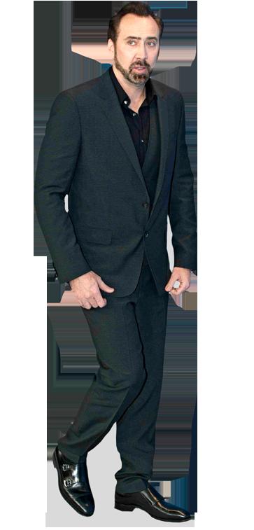 Nicolas Cage Blue Suit Cardboard Cutout Celebrity Life Size