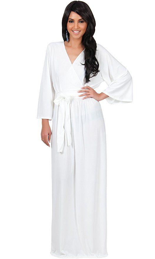 2647ab296d49 KOH KOH Plus Size Womens Long Kimono Sleeve with Sleeves Wrap Fall Winter  Empire Waist Flowy