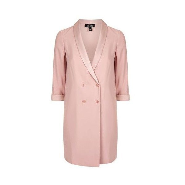 Topshop Soft Tailored Blazer Dress ($74) ❤ liked on
