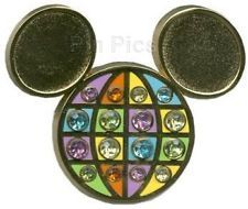 Disney WDW FLORIDA PROJECT JEWELED Mickey Mouse Head Icon Pin