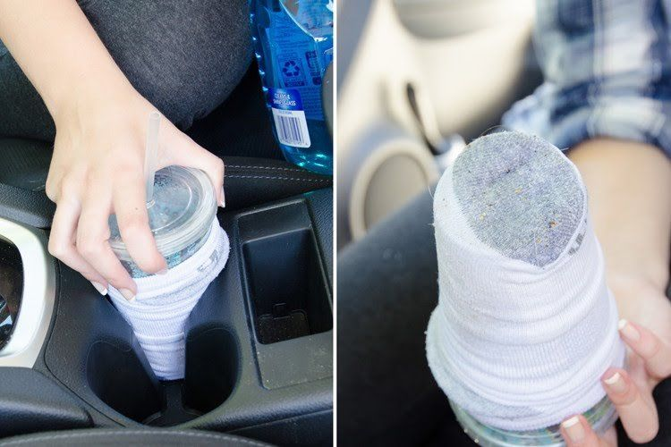 Image result for Cleaning Cup Holders With A Sock, Travel Cup & Windex