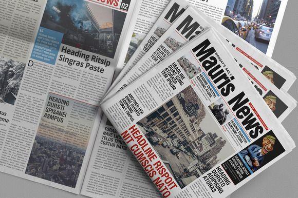 16 Page Newspaper Design Newspaper Design