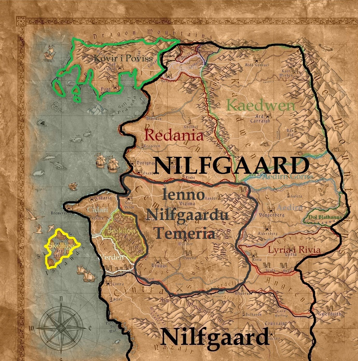 20+ Nilfgaard Witcher 3 Map Pictures and Ideas on Weric