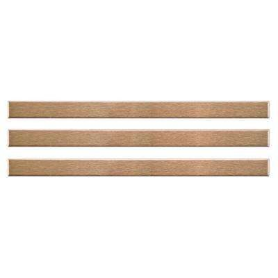 Alloy Stick Copper 3 8 In X 5 3 4 In Stainless Steel Over Porcelain Wall Trim Tile 3 Pack Wall Trim Merola Tile Tile Trim