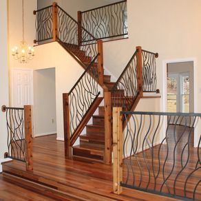 Exceptional Wrought Iron Interior Railing Artisan Bent Design By Cam Harris