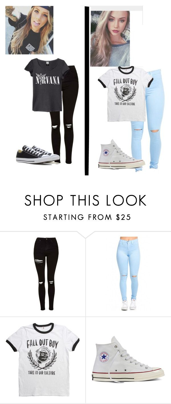 """""""Untitled #440"""" by tasialynn03 ❤ liked on Polyvore featuring Topshop and Converse"""