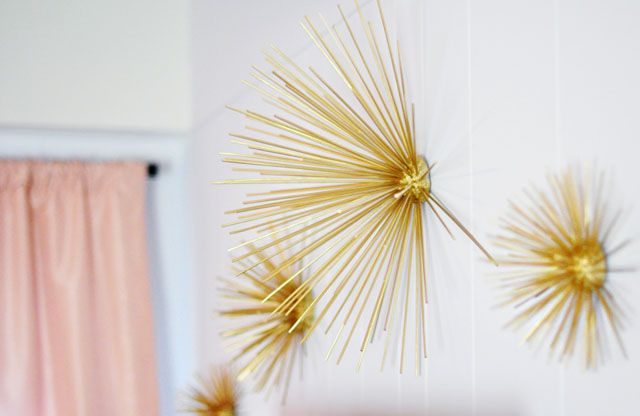 Diy Gold Sea Urchins Wall Art Decor This Is Incredible Used By