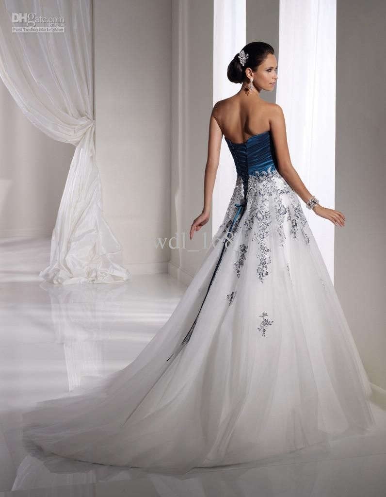 White and navy blue wedding dresses google search for Navy blue dresses for wedding