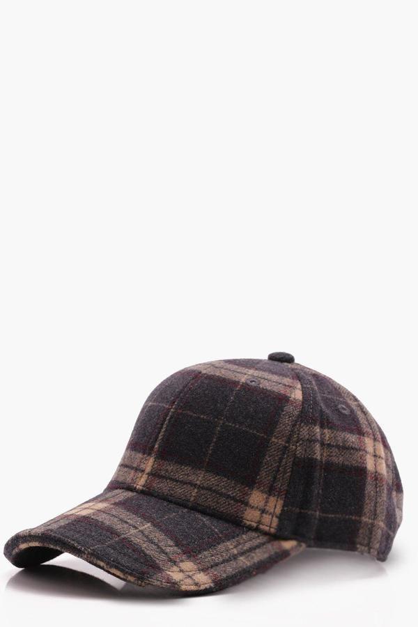 364d4bb93f0 Grey Wool Check Cap   Products   Hats, Caps hats, Mens caps