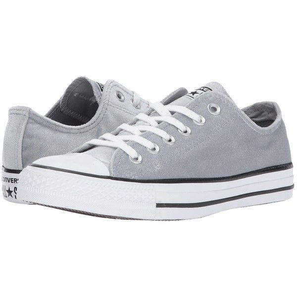 175d9437fa0 Converse Chuck Taylor All Star - Ox Velvet (Wolf Grey White White)... ( 60)  ❤ liked on Polyvore featuring shoes